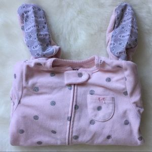 CARTER'S Girls Fleece Footed PJs- Sz 24M